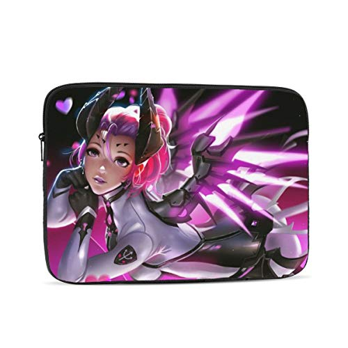 Game Overwatch Laptop Sleeve 3D Printing Polyester Waterproof Shock Resistant with Zipper Protective Case,Compatible Satchel Tablet Carrying Sleeve 12 inch