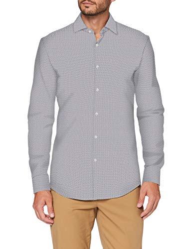 HUGO Kenno 50438129 Camisa, Navy (414), 38 para Hombre