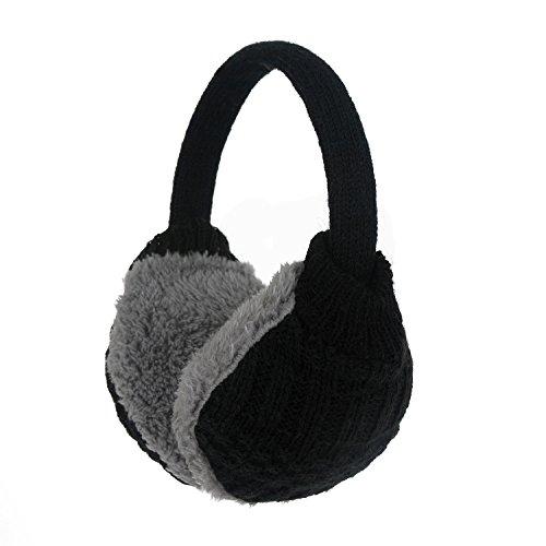 Cozy Design, paraorecchie invernale da donna lavorato a maglia Grigio Knitted Grey