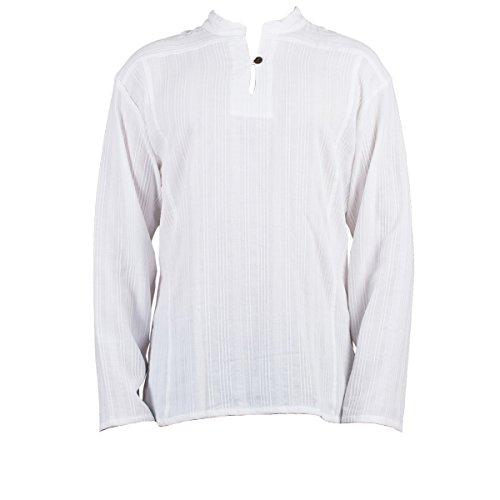 Fisherman Shirt Ben,White, XL, Longsleeve