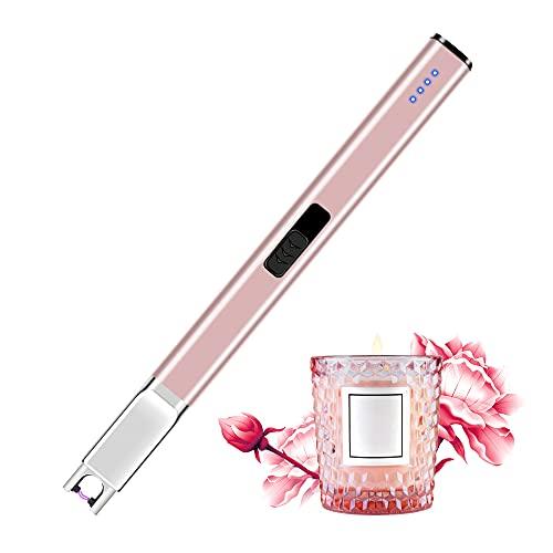 Mechero eléctrico recargable USB con pantalla de batería LED, sin llama, encendedor...