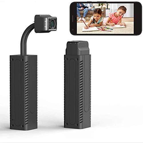 FiveSky Mini cámara espía 1080P WiFi cámara de Video Oculta 150 ° cámara retráctil de Gran Angular HD con batería para vigilancia de Seguridad Interior