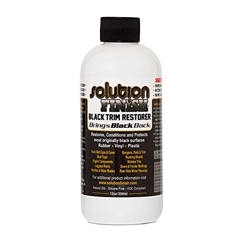 Solution Finish Black Plastic & Vinyl Plastic Trim...