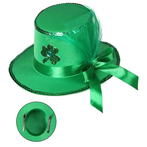 Widmann 00676 St. Patrick ▾s Day minicilinder met haarclips, dames, groen, eenheidsmaat