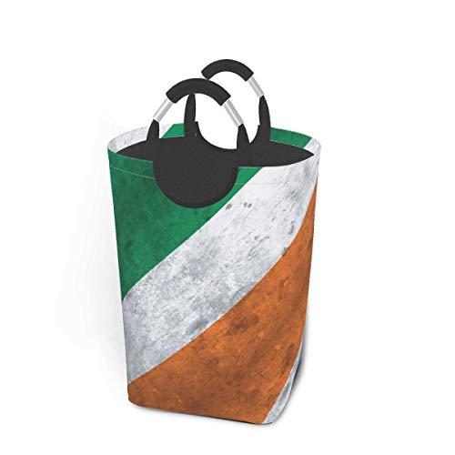 Just Life Distressed-Irish-Flag_Comforter Laundry Hamper Basket Bucket Foldable Dirty Clothes Bag Washing Bin Toy Storage Organizer for College Dorms, Kids Bedroom,Bathroom