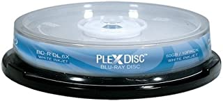 PLEXDISC 645-212 50 GB 6x Blu-ray Double Layer Recordable Disc BD-R DL, 10-Disc Spindle