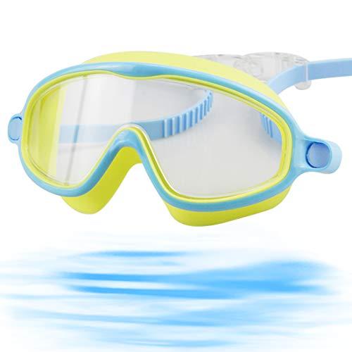 HANEL Occhialini da Nuoto per Bambini Maschera da Nuoto per Bambini, Impermeabile Senza Perdite Protezione UV Regolabile Facili da Indossare
