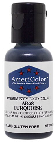 AmeriColor AmeriMist Turquoise Airbrush Food Color, .65 oz