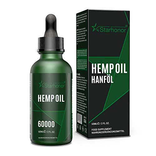 Starhonor® PREMIUM ÖL Tropfen mit Zertifikat enthält ungesättigte Omega Fettsäuren 100% Vegan(60 ml)