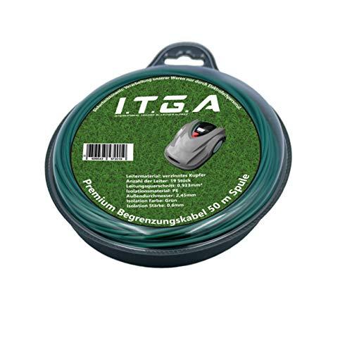 Begrenzungskabel (50 m), Begrenzungsdraht, Aussendurchmesser 2,45mm, Innendurchmesser 0,933mm² Verzinnter Kupferdraht, Premium Qualität