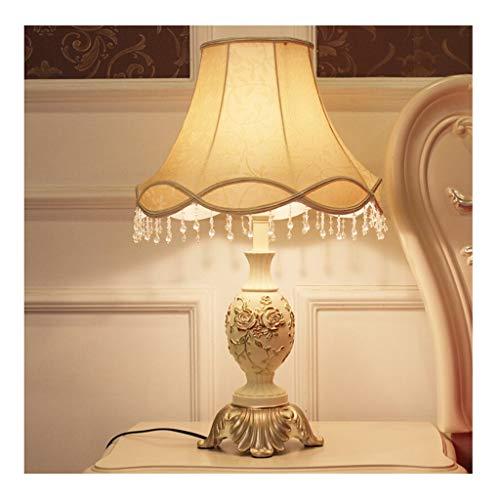Lampe de table chambre lampe de bureau salon décoration table de chevet lumière européenne tissu ombre Vintage décoration créative