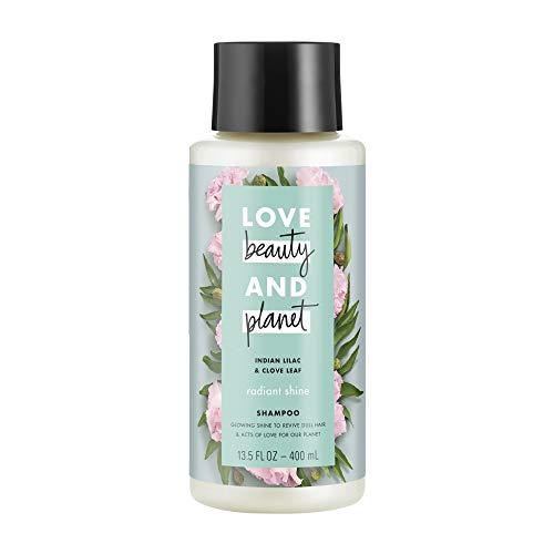 Love Beauty Planet Positively Shiny Shampoo, Indian Lilac Clove Leaf, 13.5 fl oz