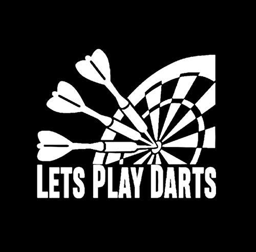 MUXIAND Auto Sticker, U kunt darts spelen 15x13cm PVC DIY Motorfiets Auto Sticker Art Accessoire Creatieve Spel Stijl Helm Decal Aangepaste Verjaardagscadeau 5 Stks
