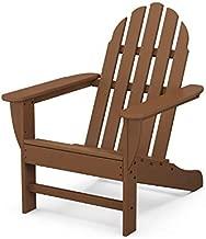 POLYWOOD Classic Adirondack Adirondack Chair, Teak