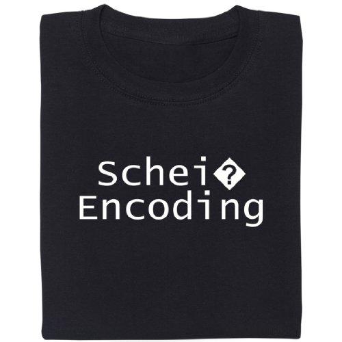 Schei? Encoding - Geek Shirt für Computerfreaks aus fair gehandelter Bio-Baumwolle, Größe L