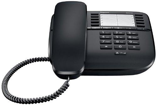 Gigaset DA510 - Schnurgebundenes Telefon - klassisches Schnurtelefon mit Direktruf-Funktion - Rufnummersperrung, schwarz