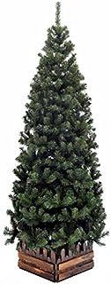 クリスマスツリー210cmスリム濃緑 品質保証高級ツリー (210S)
