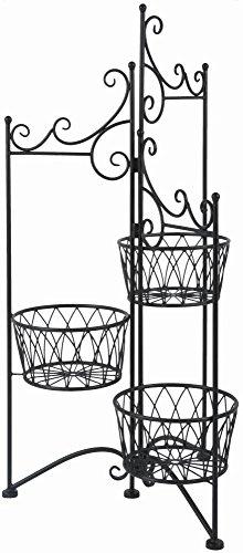 Esschert Design Jardinière Support pour 3 casseroles pliable, 48,9 x 43,5 x 97,5 cm