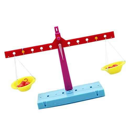 Sharplace DIY Waage Balance Skala Wissenschaftliches Experiment Kit Kinder Lernspielzeug