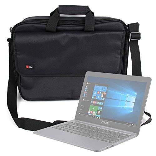 DURAGADGET Maletín Negro para Portátil ASUS VivoBook D540NA-GQ059 - Múltiples Compartimentos