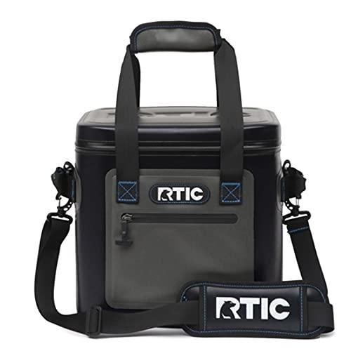 RTIC Soft Cooler 12, Insulated Bag, Leak Proof Zipper, Keeps...