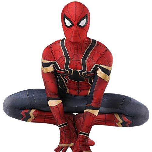 Cosplay Costume Spiderman, Spiderman Une Pièce Collants Spandex Hommes Cosplay Costume De Fête D'Halloween, Boule Carnaval Robe Fantaisie Red-XL