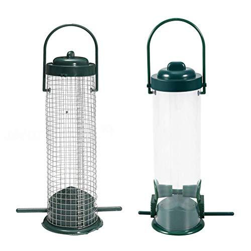 Bird Feeder Tube Style 2 Stück-Kunststoff-Vogelhäuschen für außen hängende Wildvogel-Saatgut-Feeder Outdoor für Gartendekoration Vögel und Tiere