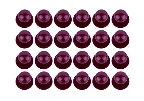 DESERMO 24er Set Kugelknöpfe für Kochjacken   Hochwertige Kochjackenknöpfe für alle Kugelknopf-Kochjacken   Profi Kochknöpfe mit großer Farbauswahl (Bordeaux/weinrot)