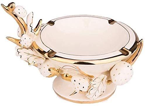 KEEBON Cenicero de cerámica Decoración for el hogar Mostrar cenicero Boda Doblewarming Regalo