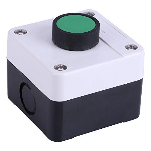 Caja de control de interruptor de botón, resistente a la intemperie Interruptor de botón verde Caja de control de un botón Caja de estación de interruptor de botón para abrepuertas
