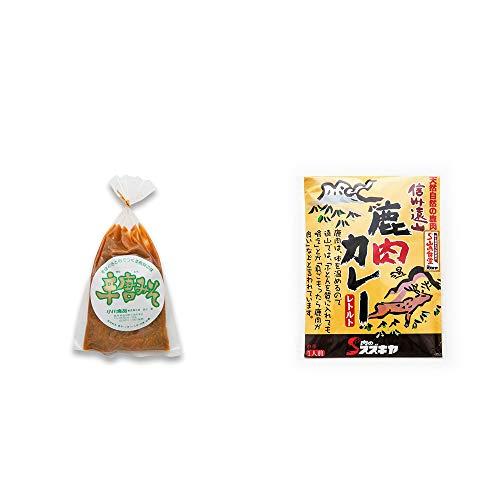 [2点セット] 辛唐みそ(130g)・信州遠山 鹿肉カレー 中辛 (1食分)