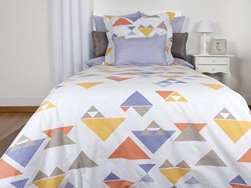 Tiendas Mi Casa - Funda NÓRDICA Reversible Triángulos Lavanda (Cama 135 cm)