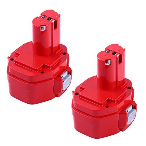 Boetpcr 2 piezas 14,4 V 3,0 Ah batería de repuesto para Makita batería PA14 1420 1422 1433 1434 1435 1435F 192600-1 193985-8 taladro inalámbrico