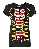Promotion & Beyond Pirate Tuxedo Skull Sword Halloween Costume Women's T-Shirt, 2XL, Black