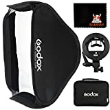 Godox SFUV8080 80x80cm Softbox Universal Plegable Kit con Soporte Speedlite Estilo S para Flash Bowens Mount (SFUV8080)