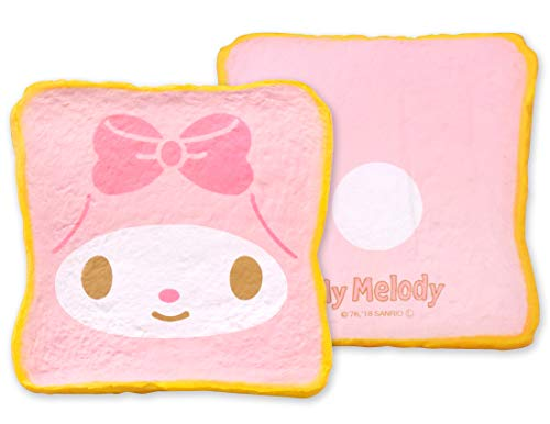 Hamee Sanrio Aromatic Milk Toast Bread Slow Rising Squishy Toy (My Melody, Strawberry Scented, 5 Inch) [Kawaii Squishies for Party Favors, Stress Balls, Birthday Gifts for Kids, Girls, Boys, Adults]