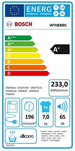 Bosch WTH83001 Serie 4 Wärmepumpentrockner / Energieeffizienz A+ / 233 kWh/Jahr / 7 kg / weiß / AutoDry / EasyClean Filter - 5
