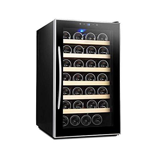 Refrigerador de Vino Multifuncional con Pantalla Digital de Temperatura y Sistema de enfriamiento avanzado, Adecuado para la Cocina casera Bodega Interior para el hogar/Oficina