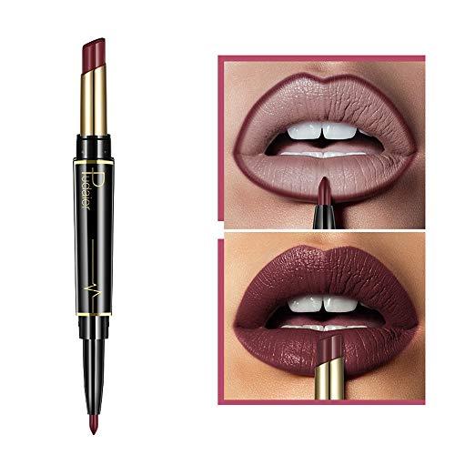 2 in 1 Double-end Lipstick Lipliner - Liquid Lipstick Lip...