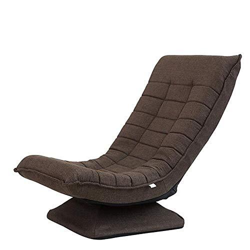 Silla Plegable de Suelo sillas gaming,3 posiciones respaldo ajustable sillon reclinables Cojín de silla de esponja de alta densidad silla plegable comoda Capacidad de carga:330Ibs-marrón
