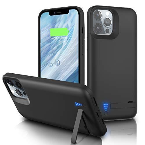 Gladgogo Funda Batería para iPhone 12/12 Pro [6000 mAh] Funda Cargador Carcasa Batería