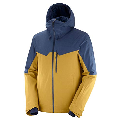 SALOMON Herren Ski-Jacke, UNTRACKED JKT M, Polyester/Elasthan/Polyamid, Gelb (Cumin), Größe: M, LC1402400