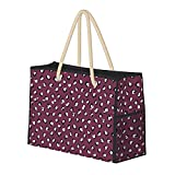 Bolsa de playa grande y bolsa de viaje para mujer – Bolsa de billar con asas, bolsa de semana y bolsa de noche – Moda de leopardo de animales de piel de estilo moderno crudo