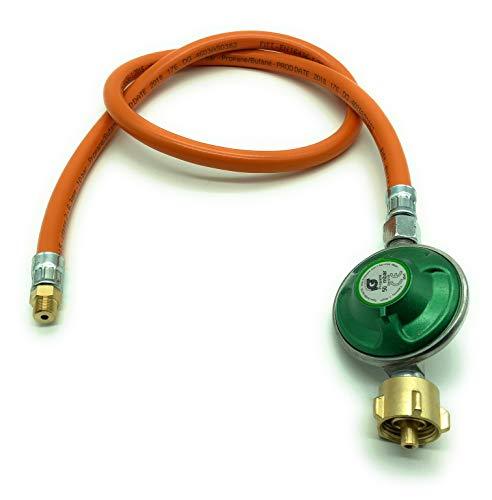 Adapter-Schlauch zum Nutzen einer Gasflasche inkl. Druckminderer 50mbar