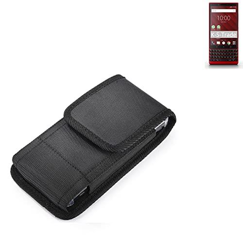 K-S-Trade Holster Gürteltasche Kompatibel Mit BlackBerry KEY2 Red Edition Holster Gürtel-Tasche Wasserabweisend Handy-Hülle Schutz-Hülle Outdoor Schwarz