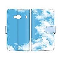 スマ通 Qua phone QX KYV42 国内生産 カード スマホケース 手帳型 KYOCERA 京セラ キュアフォン キューエックス 【A.ブルー】 青空 雲 vc-653