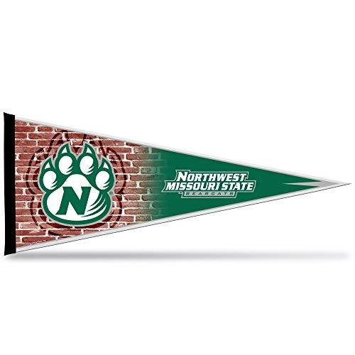 NCAA Rico Industries 12-Inch by 30-Inch Classic Pennant Décor, Northwest Missouri State Bearcats Team Color, 12 x 30-inches