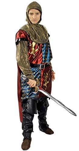 KARNEVALS-GIGANT Ritter-Kostüm / König-Löwenherz | Erwachsenen-Größen | Mittelalterkostüm-Ritter (54/56)