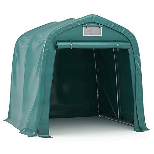 Tidyard Tenda Capannone Garage Deposito Impermeabile Verde,Tendone Capannone Deposito Impermeabile in PE,Tenda Gazebo Deposito Impermeabile Tebda Carage 1,6x2,4 m/2,4x3,6 m