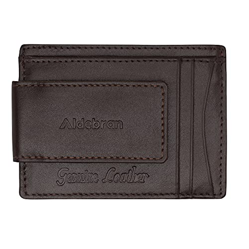 Aldebran Minimalist RFID Blocking Credit Card Holder for Men Slim Front Pocket Money Clip Anti Scan Ultra-Slim Cozy Business Card Holder Strong Magnet thin Wallet